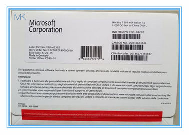ประเทศจีน Genuine OEM Key Microsoft Windows Updates For Windows 7  32 Bit / 64 Bit Italian Version โรงงาน