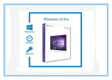 ประเทศจีน 3.0 USB X64 Bit Microsoft Windows 10 Pro Product Key OEM Windows 10 Retail Box โรงงาน
