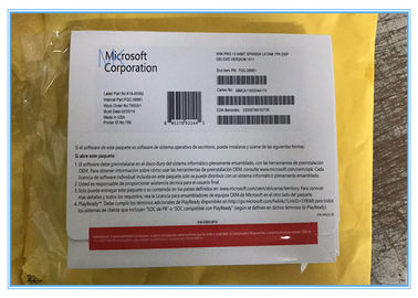 ประเทศจีน Sealed Microsoft Windows 10 Pro Professional OEM COA 64 Bit DVD Pack in Spanish โรงงาน